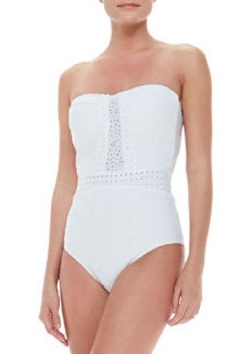 Nanette Lepore Ooh La La Eyelet Seductress One-Piece Swimsuit