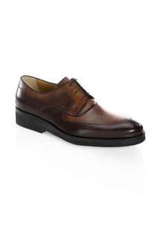 A. Testoni Black Label Leather Derby Shoes