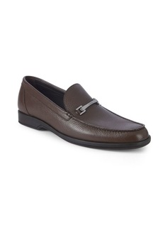 A. Testoni Leather Bit Loafers