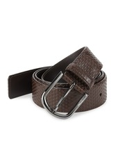 A. Testoni Nido Ape Textured Leather Belt