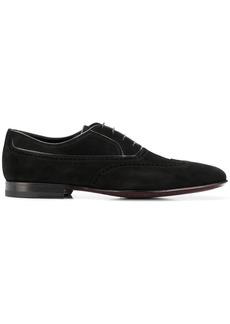 A. Testoni brogue detail Oxford shoes