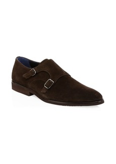 A. Testoni Casual Suede Monk Strap Shoes