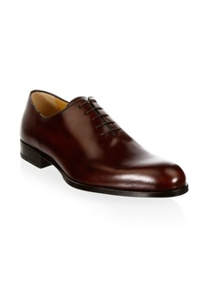 A. Testoni Classic Leather Oxfords