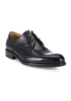 A. Testoni Derby Nappa Leather Oxfords