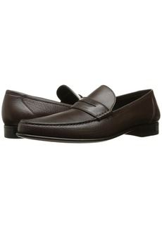 A. Testoni Leather Moccasin