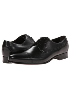 A. Testoni Nappa Lace Up Oxford Cap Toe