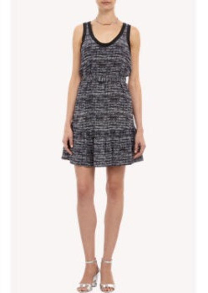 Joie Tweed-print Sleeveless Dress