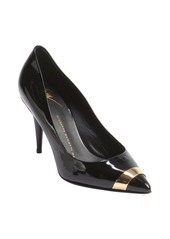 Giuseppe Zanotti black suede pointed cap toe pumps