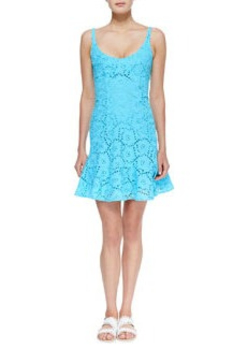 Nanette Lepore Summer Eyelet Ruffle-Hem Dress   Summer Eyelet Ruffle-Hem Dress