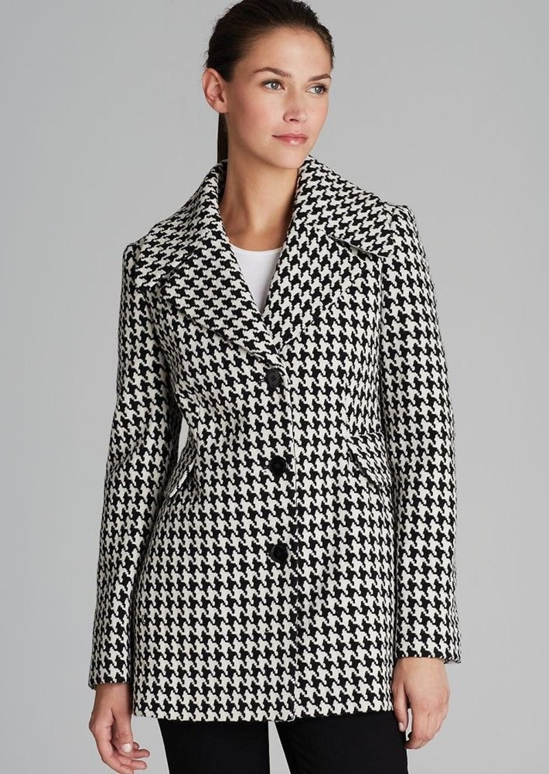 Calvin Klein Coat - Houndstooth Basketweave