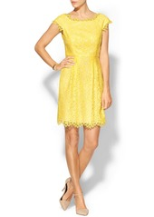 Shoshanna Lemon Drop Lace Ceclie Dress