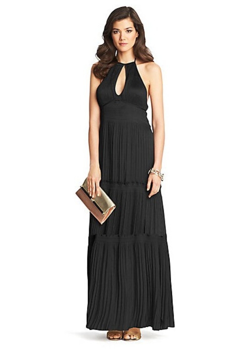 Diane Von Furstenberg Aden Pleated Tier Dress