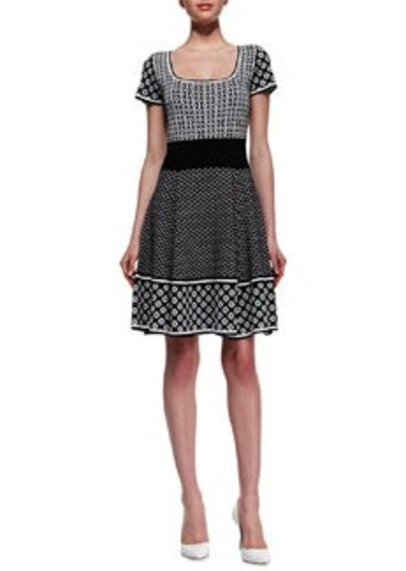 Catherine Malandrino Genevieve Cap-Sleeve Fit & Flare Dress   Genevieve Cap-Sleeve Fit & Flare Dress