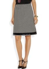 Marni Embellished wool-blend jacquard skirt
