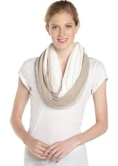 Calvin Klein latte and cream stretch ombre accent 'Infinity' scarf