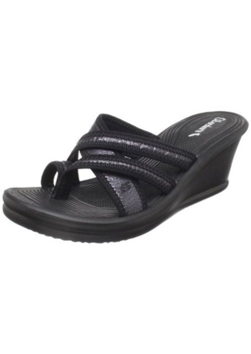 Skechers Women's Rumblers-Home Run Wedge Sandal