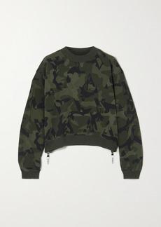 AARMY Love Zip-detailed Cotton-jersey Sweatshirt