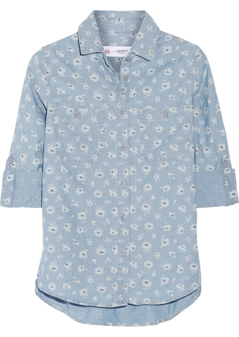 AG Adriano Goldschmied AG Jeans Collette floral-print chambray shirt
