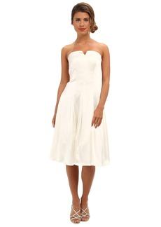 ABS Allen Schwartz Bustier Fitted Bodice Dress w/ Pleated Skirt