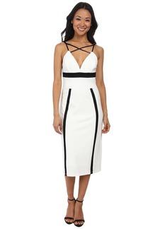 ABS Allen Schwartz Color Block Fitted Dress