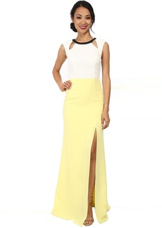ABS Allen Schwartz Color Block Gown w/ Cutouts
