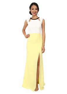ABS Allen Schwartz Color Block Gown w/ Cutouts