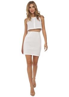 ABS Allen Schwartz Cropped Halter Overlay Dress