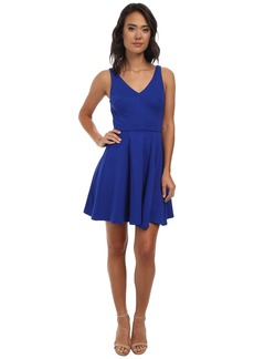 ABS Allen Schwartz Deep V Fit and Flare Dress