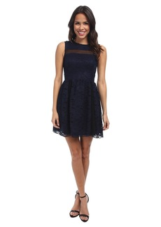 ABS Allen Schwartz Lace Dress w/ Mesh Contrast