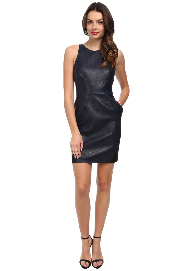 ABS Allen Schwartz Vegan Leather Dress w/ Back Cutouts