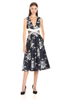 ABS Allen Schwartz Women's Fit and Flare Floral Dress