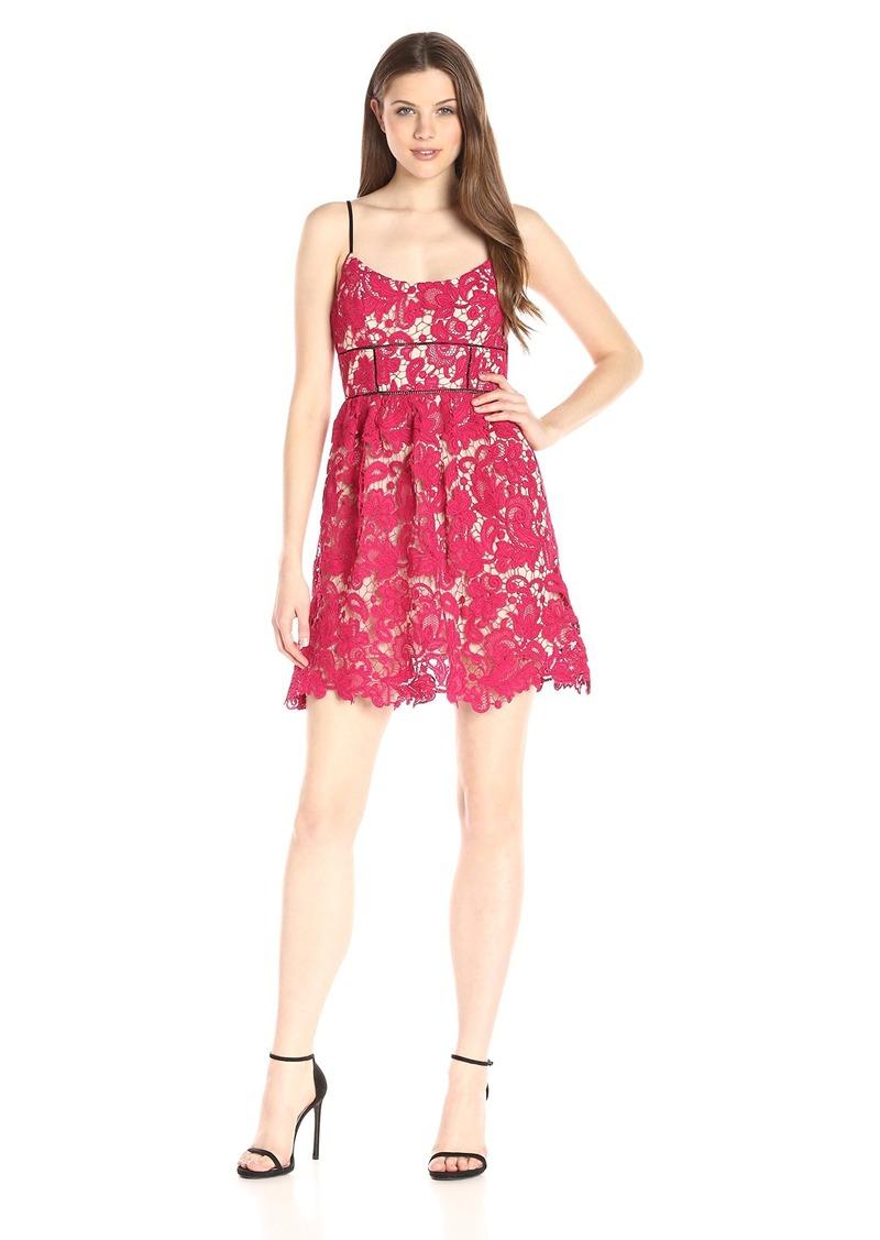 8f7ee9d9f1 ABS Allen Schwartz Women s Guipure Lace Sun Dress with Contrast Straps 6