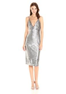 ABS Allen Schwartz Women's Mid-Length Slip Dress in Sequins