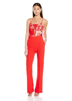 ABS Allen Schwartz Women's Playsuit with Embroidered Lace Bodice