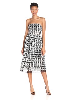 ABS Allen Schwartz Women's Strapless Cocktail Dress