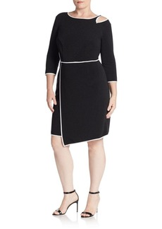 ABS, Plus Size Bodycon Cutout-Detail Asymmetrical Dress