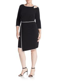 ABS Bodycon Cutout-Detail Asymmetrical Dress