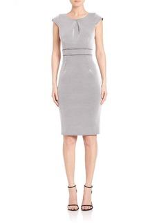 ABS Bonded Knit Sheath Dress