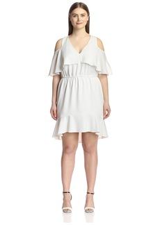 ABS A.B.S. by Allen Schwartz Plus Women's Cut Out Shoulder Dress