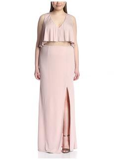 ABS A.B.S. by Allen Schwartz Plus Women's Popover Gown with Sheer Waist