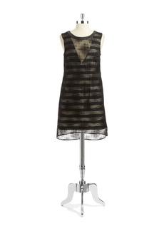 A.B.S. By Allen Schwartz Polka Dot Overlay Shift Dress