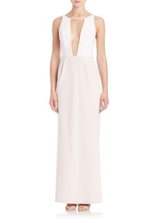 ABS Colorblock Cutout Gown