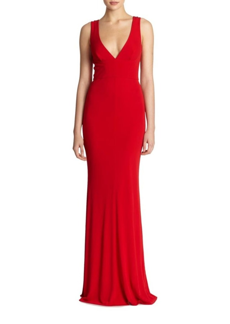 ABS Deep V-neck Gown Now $117.00