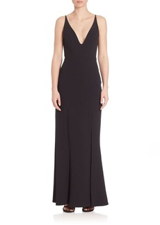 ABS Deep V-Neck Gown