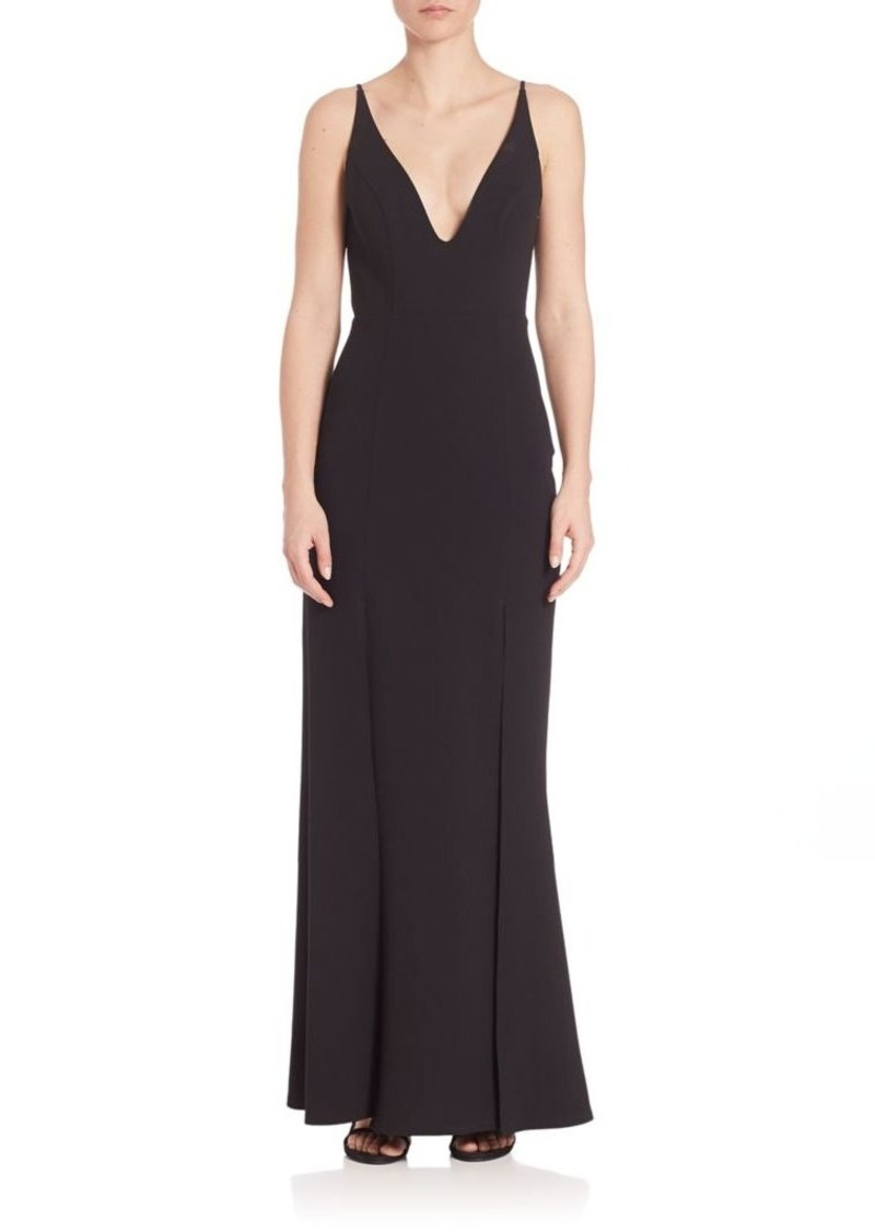 ABS ABS Deep V-Neck Gown   Dresses