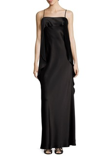 ABS Draped Satin Gown