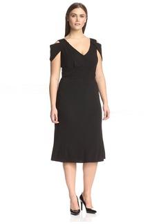 ABS Dresses Plus Women's Cold Shoulder Dress