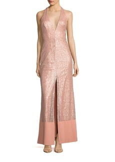 ABS Embellished Sleeveless Gown