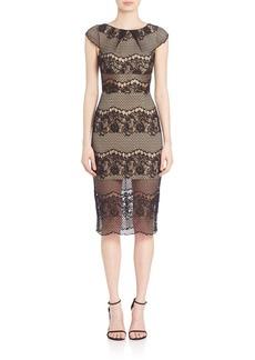 ABS Floral Cutout Lace Dress