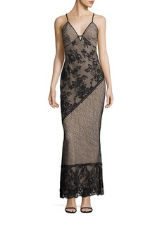 ABS Floral Lace Gown